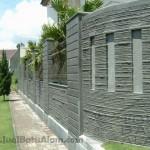 contoh pemasangan batu andesit susun sirih untuk pagar