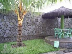 contoh pemasangan batu templek salagedang untuk dinding