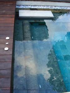 contoh pemasangan batu bali green untuk kolam renang