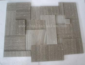 ... Memasang Batu Alam Dengan Pola Ukuran Beragam (Pola French Pattern