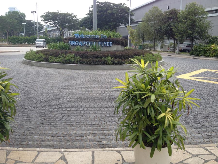 grey basalt cobblestone at singapore flyer1