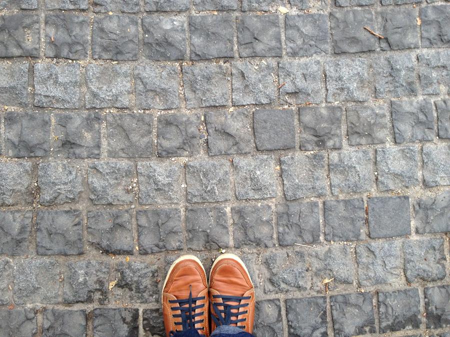 grey basalt cobblestone at singapore flyer2